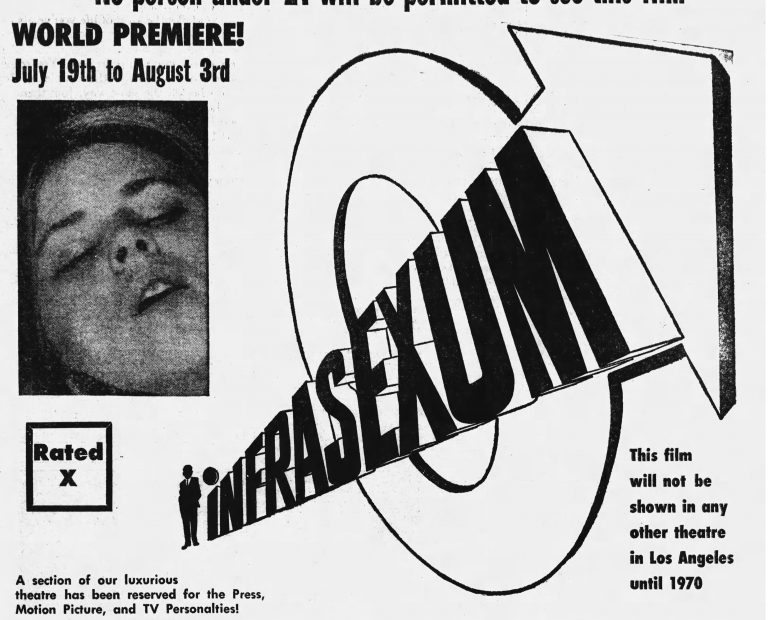 INFRASEXUM (1969) – Locations
