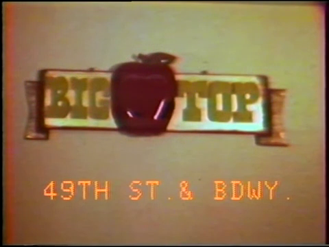 VINTAGE AD – BIG TOP THEATER (NYC) – July 2 1977