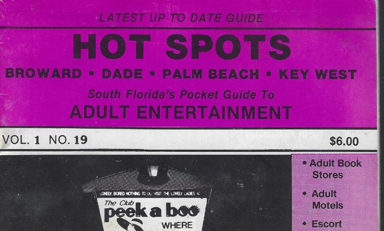 HOT SPOTS MAGAZINE – SOUTH FLORIDA – MID-80s